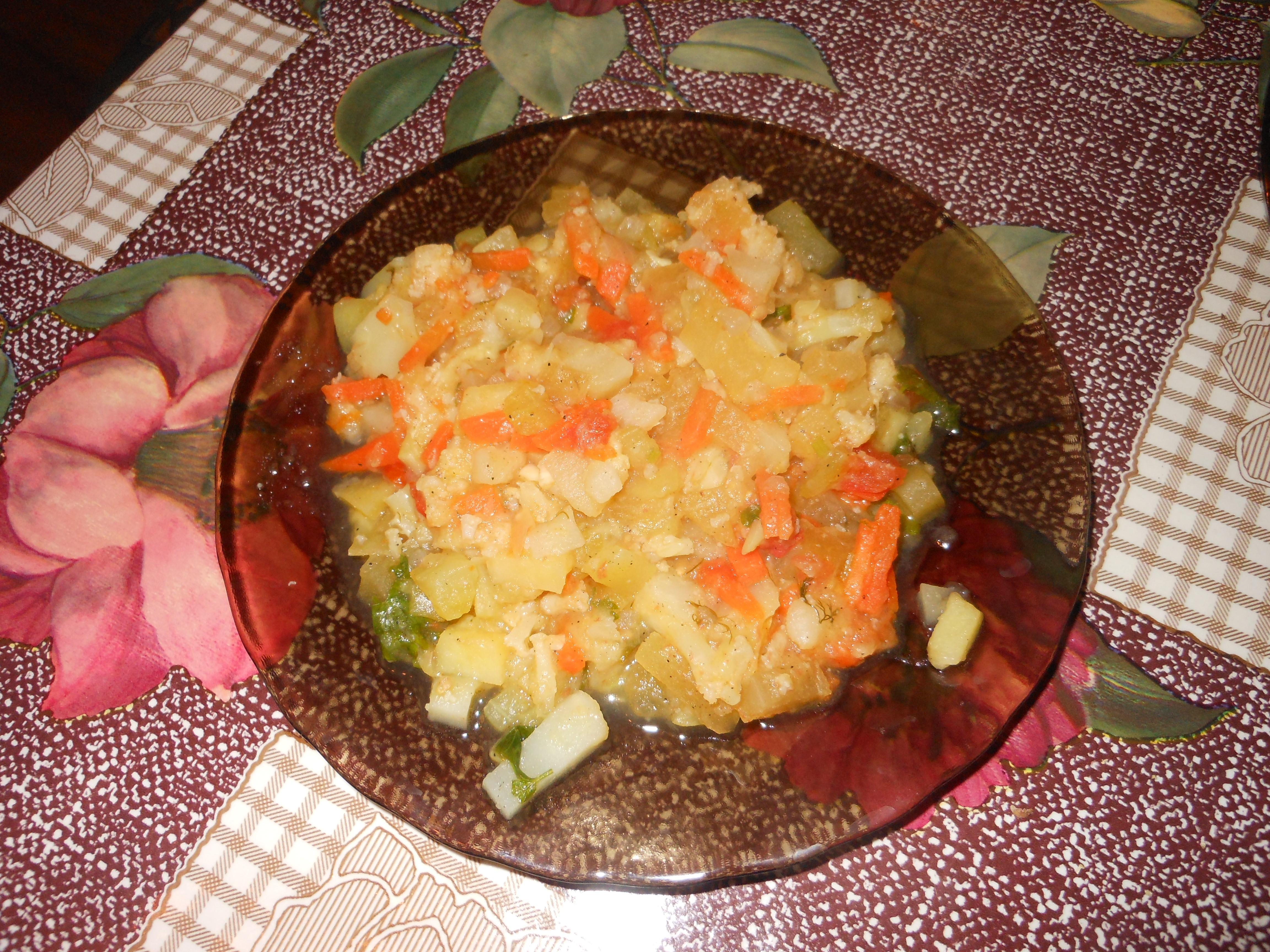 рецепт овощного рагу с цветной капустой