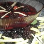Кисель из мороженой ежевики и черноплодной рябины