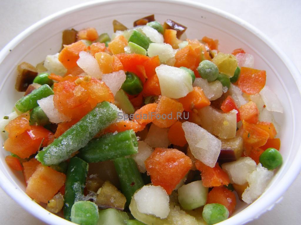 Овощи разморозить