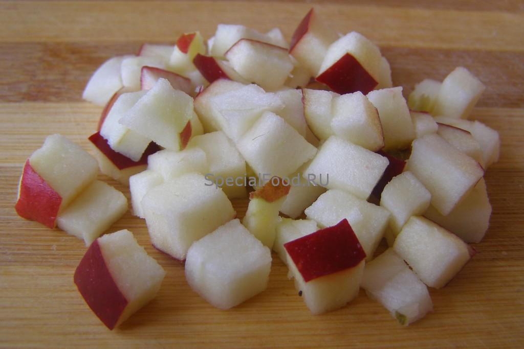 Порезать яблоко