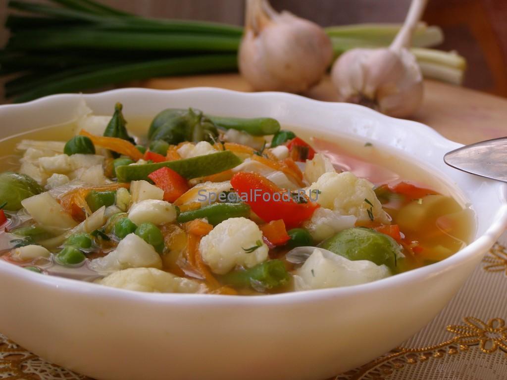 Суп овощной для похудения