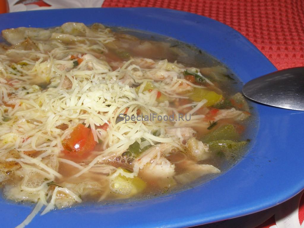 Куриный суп с лавашом