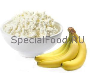 Творог с бананом
