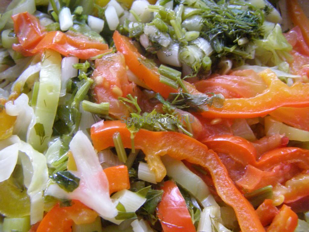 Овощи в сковороде