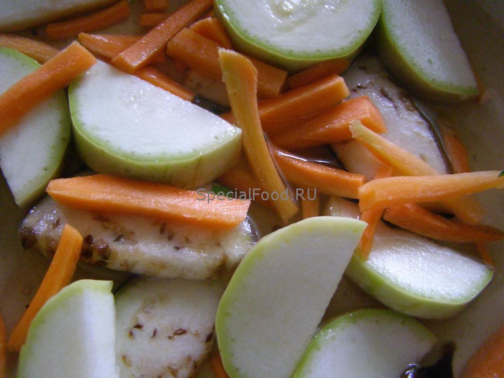 Овощи жарятся