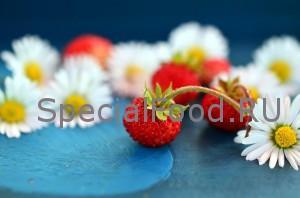 Земляника с цветами
