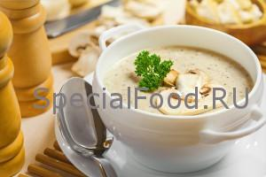 Суп-пюре с шампиньонами: