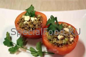 Фаршированные помидоры с маринованными грибами