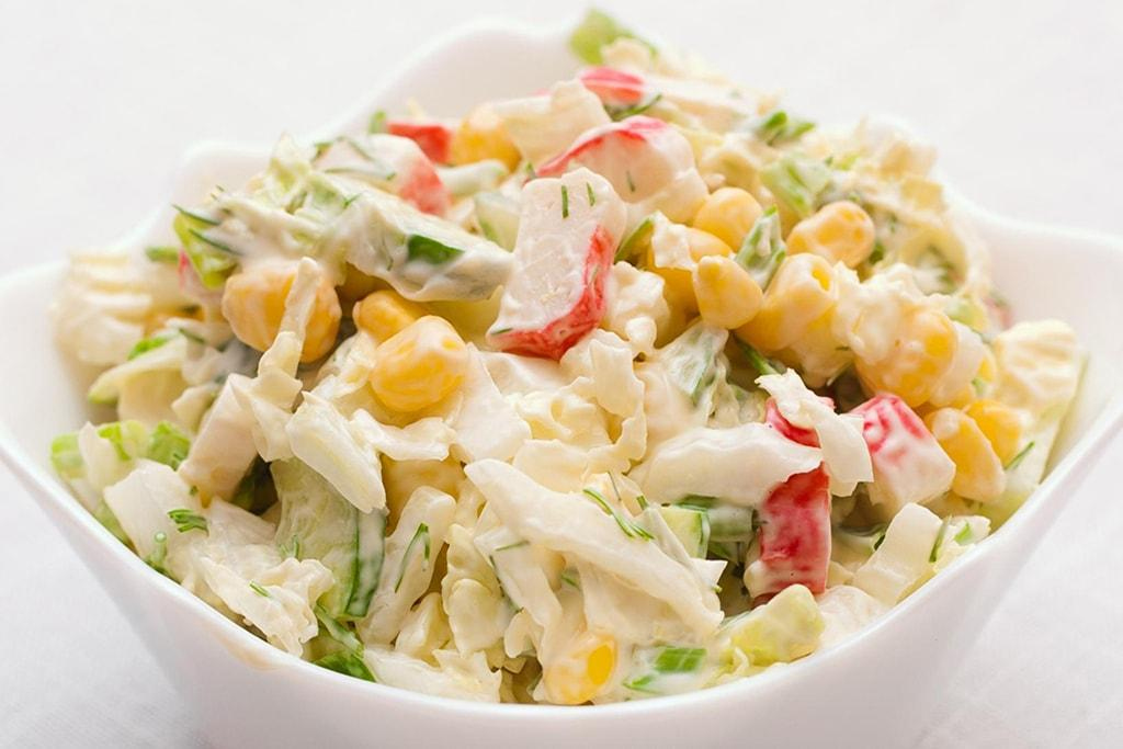 Салат крабы