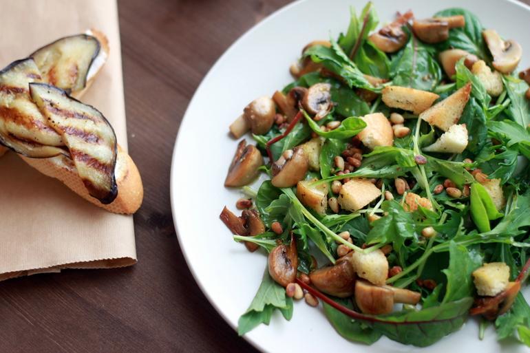 Салат грибы