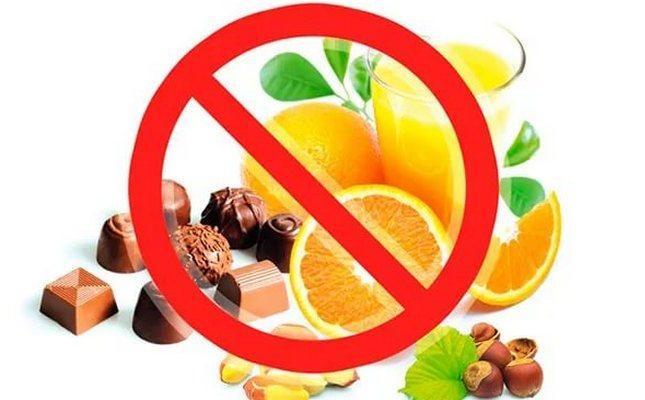 Запрещенные продукты при стоматите