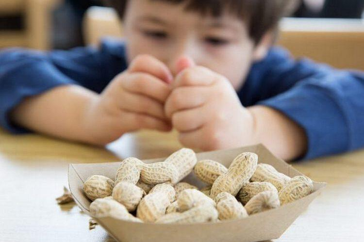 Орехи кушает ребенок