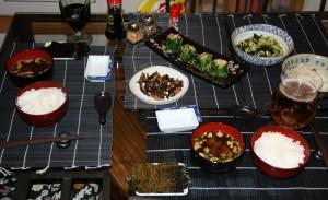 Ужин в японской системе питания