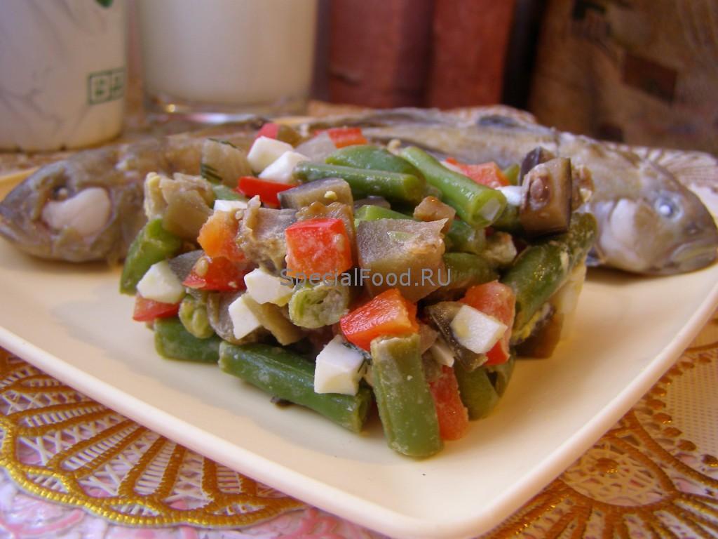Отварная рыба с овощным гарниром