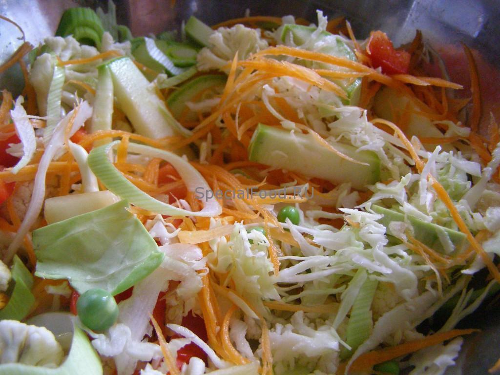 Все овощи в кастрюле