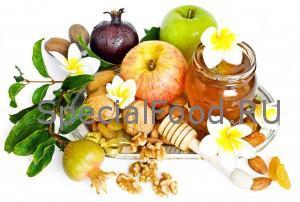 Яблоки, инжир, мед, грецкие орехи