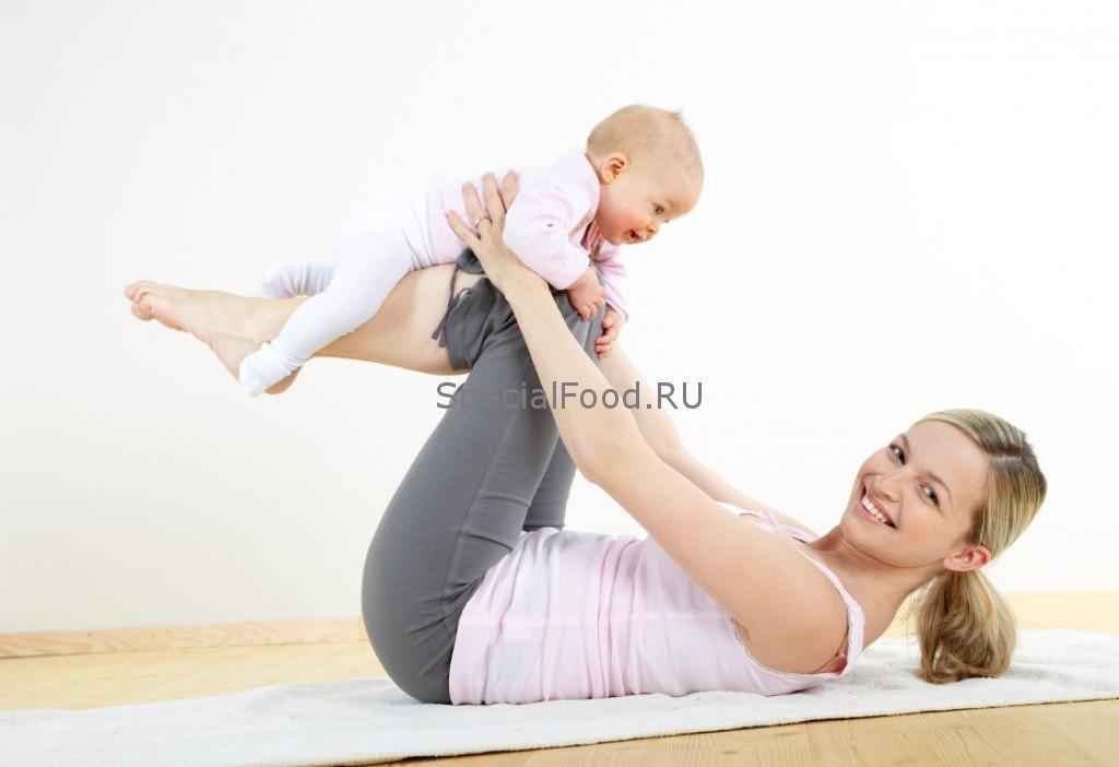 Упражнения для кормящей мамы с ребенком
