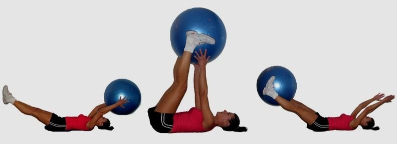 Фитбол для талии