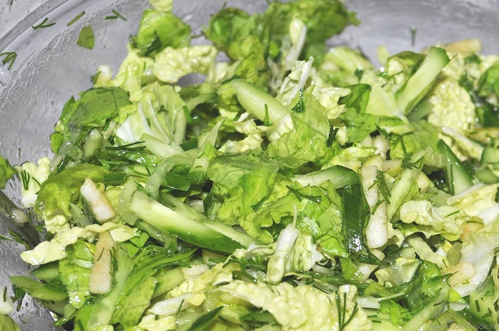 Салат овощной диетический