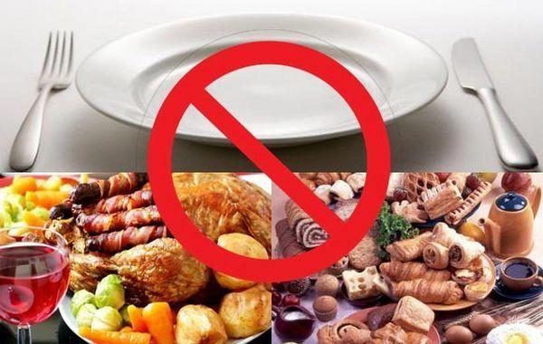 Запрещенные продукты питания